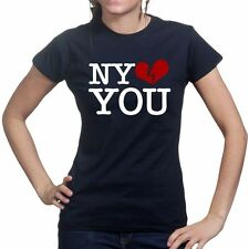 I Love NY NYC Hates You Ladies Womens T shirt - Funny Slogan Gift Present