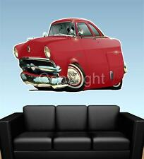 1953 Ford Mainline Sedan FAT WALL GRAPHIC DECAL MAN CAVE MURAL 6128 cartoontees