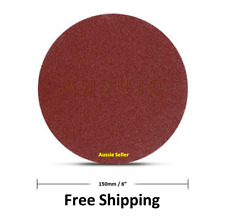 "15X150mm 6"" 80 120 180 Grit Sanding Disc Hook Loop Sandpaper Self Adhesive Stick"