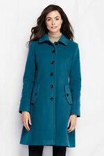NWT Lands' End Women's Tall Luxe Wool Swing Car Coat  Indonesian Teal  4T & 6T