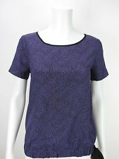 MICHAEL KORS Women's Purple Maitland Print Side Tie Blouse S XS NEW WITH TAGS