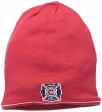 Adidas MLS Soccer Football Chicago Fire Red Reversible Mens Beanie Hat