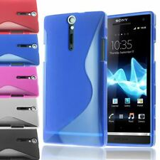 S-LINE TRANSLUCENT CLEAR TPU GEL SOFT CASE BACK COVER FOR SONY XPERIA S / LT26I