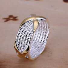 wholesale Women Ring fashion Jewelry 925 sterling silver plated Size 6-10 Sale