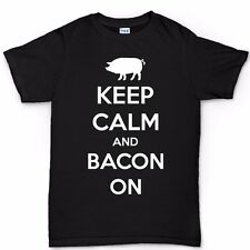 Keep Calm Bacon Strips Baconstrips Funny Epic Meal T shirt - Mens Time-less Tee