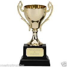 Spire Cast Metal Cup Trophy in 2 Sizes FREE Engraving up to 30 Letters