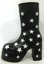 Glam rock era Platform boots with stars all over made to order to your size