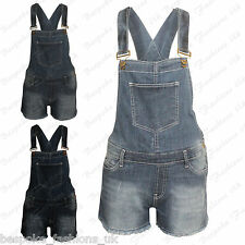 Ladies Women's Summer Denim Shorts Stretch Jeans Jumpsuit Playsuit Dungaree 8-14