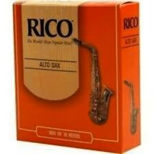 Rico Reeds for Alto Saxophone - Strength 1.5, 2, 2.5 or 3.0 - Box of 10