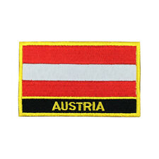 Austria Flag Patch Embroidered Flag Patches National Flag Iron On Patch