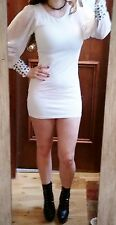 Sexy long sleeve white lace dress size 8 womens party evening