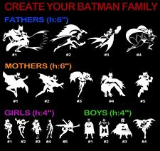 Create Batman Family Vinyl Decal Sticker Car Window Wall Dad Mom Girl Boy Design