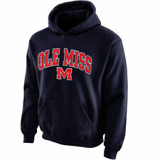 Ole Miss Rebels Youth Navy Blue Midsized Pullover Hoodie