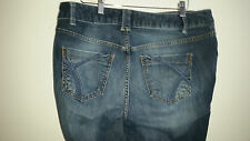 "Lane Bryant Jeans 14 Average Bootcut Stretch Denim Womens 35"" Waist medium wash"
