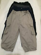 New Mens Boys 3/4 Pants Outdoor  Walk Fish Camp Casual Cargo Shorts Size S- XXXL