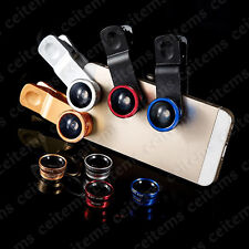 3in1 Lens Photo Clip Kit Fish Eye Wide Angle Macro Lens for iPhone 6s 7 Plus 5s