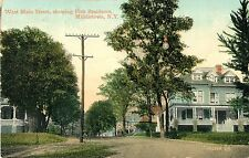 A View of West Main Street Showing the Fish Residence, Middletown NY 1909