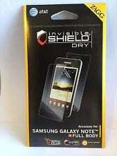 ZAGG Invisible Dry Shield Full Body Screen Protector Samsung Galaxy Note -  New!