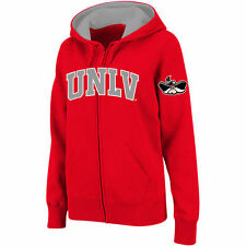 Stadium Athletic UNLV Rebels Women's Red Arched Name Full-Zip Hoodie