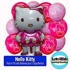 HELLO KITTY BIRTHDAY PARTY BALLOONS - PARTY SUPPLIES - PACK OF 11