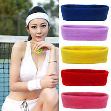 Women Men Exquisite Sport Sweat Sweatband Headband Yoga Gym Head Hair Band
