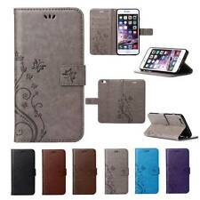 Flip Leather Wallet Cards Slot Stand Case Cover For Apple iPhone 4 5 6 6S Plus