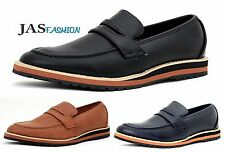Mens New Slip On Shoes Loafers Smart Moccasin Designer Leather Work Casual Size