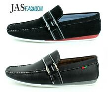 Mens Casual Slip On Driving Shoes Loafers Black Moccasins UK Size 6 7 8 9 10 11