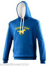 Personalised Printed Born To Ride Horse Runing Equestrian Adults Kids New Hoodie