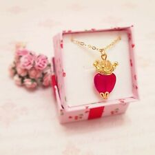 Ruby Red glass Sacred heart earrings, Gold, Antique bronze, Silver, Mother's Day