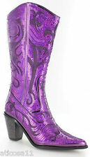 New Helens Heart Purple Sequin Western Boots Size 5, 6, 7, 8, 9, 10, 11, 12