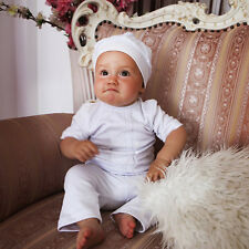 Baby Boy 3 Piece Christening Suit Newborn White Cotton Romper Baptism Outfit