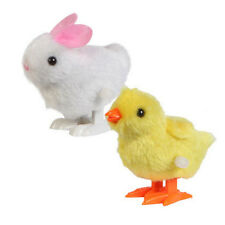 Infant Child Plush Doll Toys Hopping Wind Up Easter Chick Jumping Bunny Gift