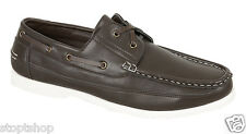 Mens New lace up casual boat deck moccasin leather driving loafers shoes size