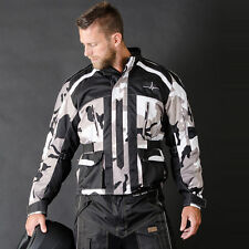 Motorbike Motorcycle Cordura Textile Jacket CE Approved Armours Camo Black ALIVE
