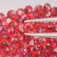 2.4mm Lot 6,10,20,50pcs Round Diamond Cut Calibrated Natural Orange Red SAPPHIRE