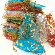 50-400 7x9 Organza Gift Bags Random Mixed Wedding Party Favour Packing Pouches