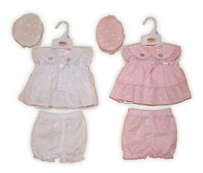 Premature Baby Girl broderie Anglaise Dress Clothes Mop Hat Knickers Reborn SALE
