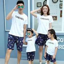 family clothes Fashion Summer Family outfits man woman Girl Boy t shirt+ pants