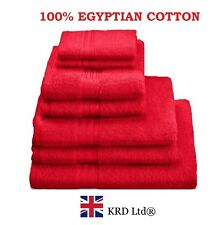 Genuine 100% Egyptian Cotton Face Cloth Guest Hand Towel Bath Sheet Towels RED