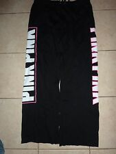 "VICTORIAS SECRET PINK BLING APPLIQUE ""PINK PINK"" BOYFRIEND POCKET SWEATPANTS NWT"