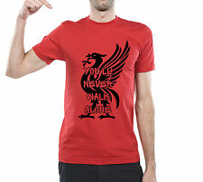 T Shirt You Will Never Walk Alone Liverpool Football Jersey Ultras YNWA P072