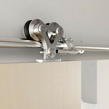 Stainless Steel Double wheel Roller Sliding Barn Door Flat Track Hardware