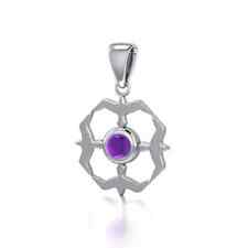 Flying Birds Around Choice of Gemstone .925 Sterling Silver Pendant Peter Stone