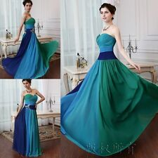 Hot Long Chiffon Bridesmaid Formal Gown Ball Party Cocktail Evening Prom Dress