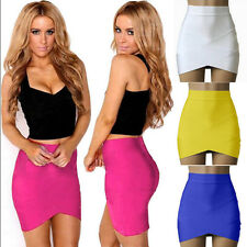 New Womens Sexy Formal Bodycon Stretch High Waist Tight Skater Mini Pencil Skirt