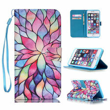 Stand PU Leather Wallet Phone Case Cover Flip For iPhone & Samsung & Huawei