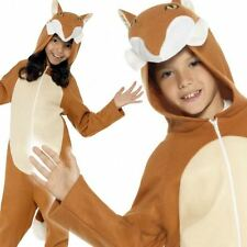 Childrens Fox Costume Boys Girls Foxes Onesie Fancy Dress Outfit Age 4-12