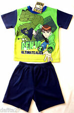 Boys Ben 10 Pyjamas Pjs Licensed Sleepwear Blue Green Size 3,4,5,6,7 Brand New!