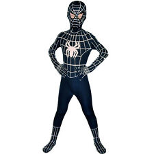 Kids Boys Venom Black Spiderman Costume Halloween Superhero Cosplay Fancy Dress